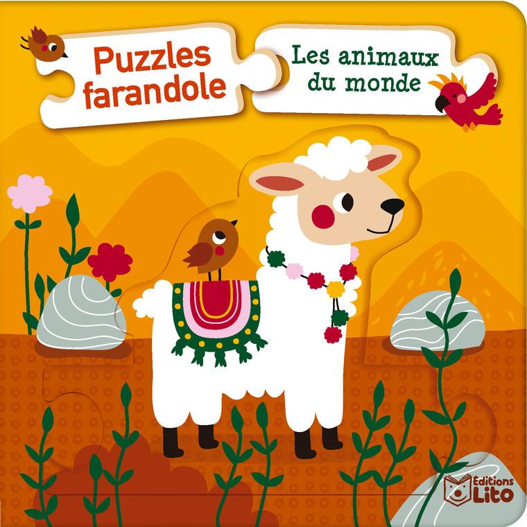 Puzzles farandole – Les animaux du monde aux éditions Lito 677329