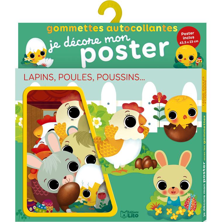 Je décore mon poster avec les gommettes – Lapins, poules, poussins 677335