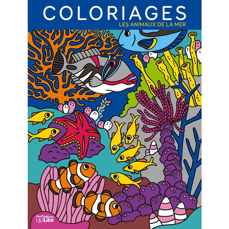 Mes grands coloriages – Les animaux de la mer aux éditions Lito 677363