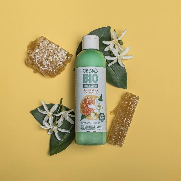 Crème douche Miel et Fleur d'Oranger bio flacon 250 ml vert 677530