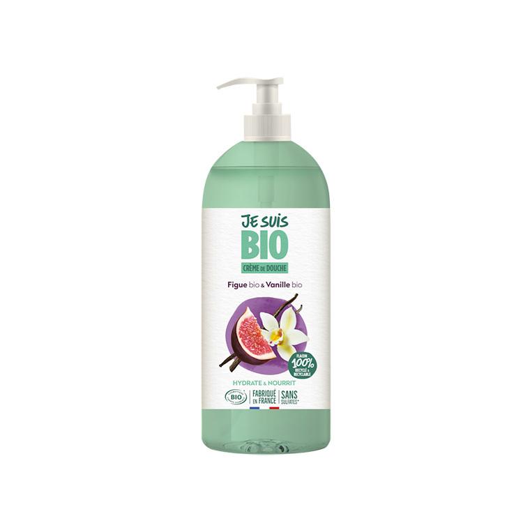 Crème douche Figue et Vanille bio flacon 1 L vert 677593