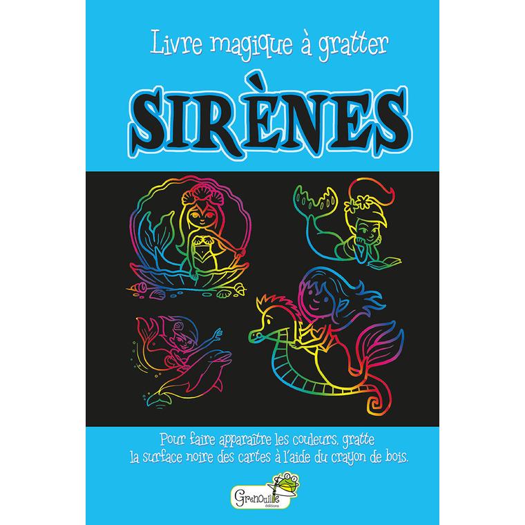 Sirènes – livre magique à gratter aux éditions Grenouille 677817
