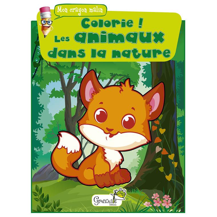 Colorie ! Les animaux dans la nature aux éditions Grenouille 677830