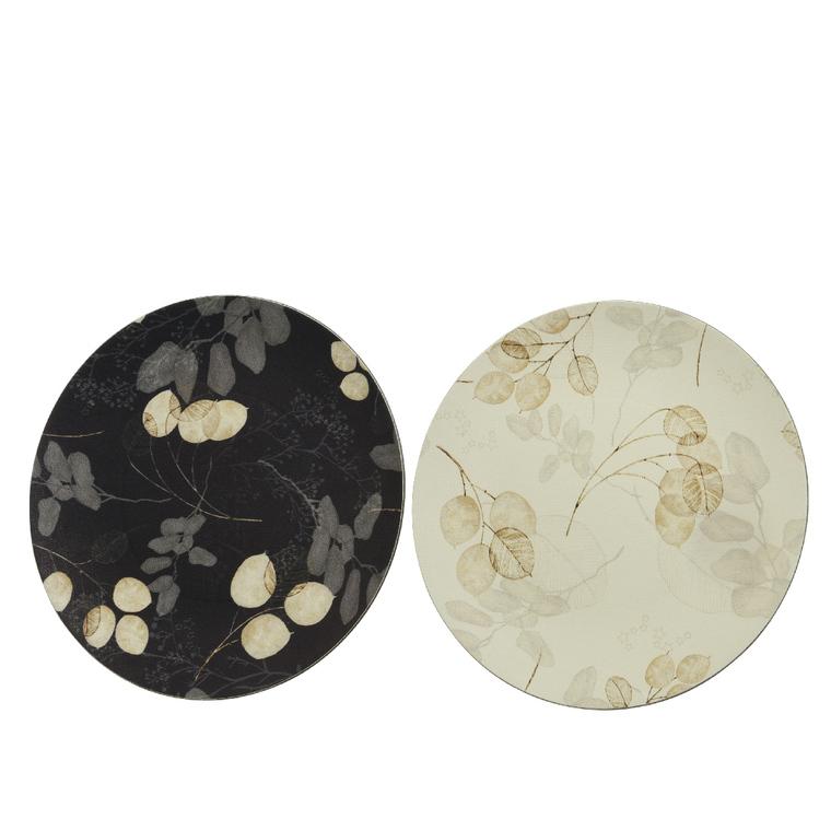 Assiette déco simili cuir Ø33 cm 679360