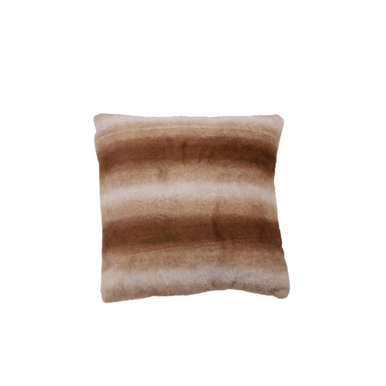 Coussin à lignes marron en polyester 45x45 cm 680349