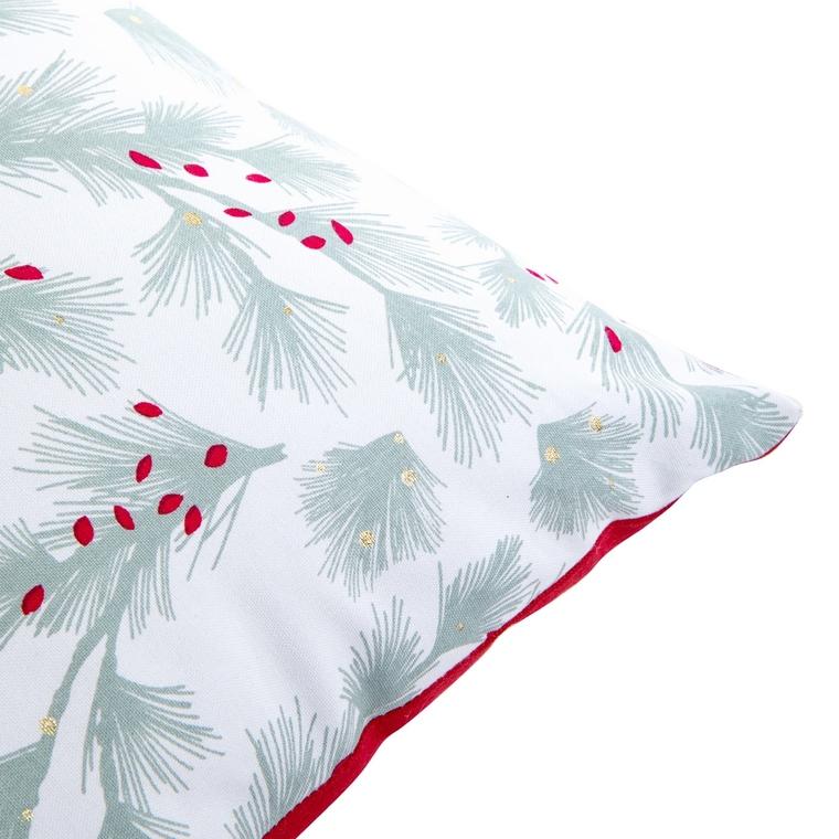 Coussin avec motif traditionnel et dos rouge en coton 30 x 30 cm 680826
