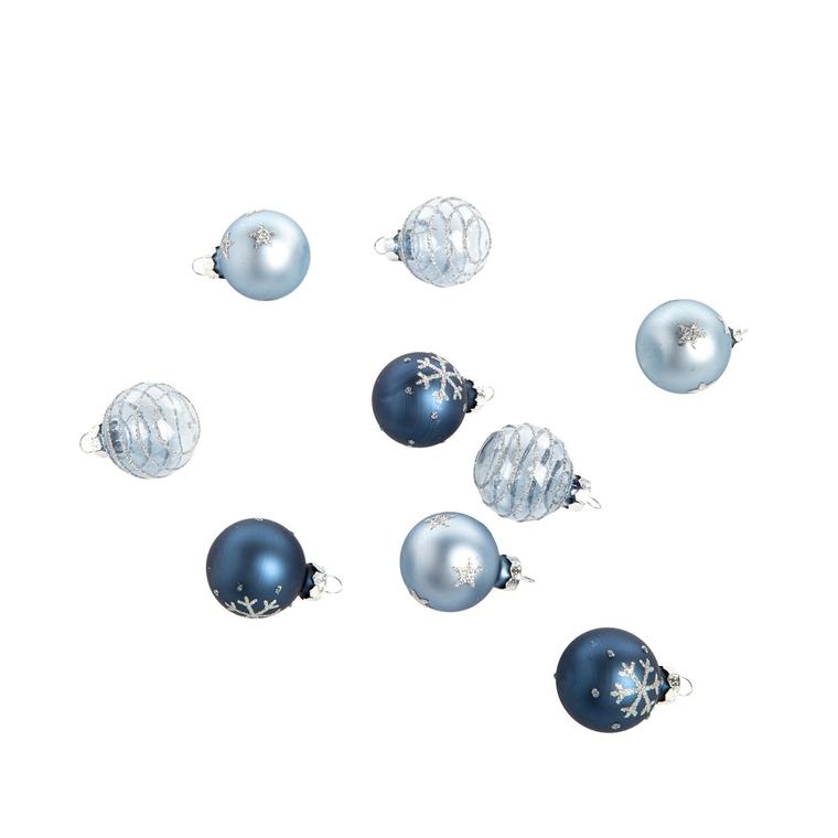 Boîte Boules Verre Déco Mix Bleu Ø3 cm 680890