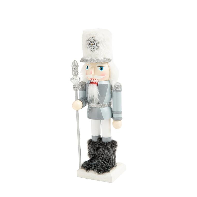 Figurine casse-noisette en bois bleu clair 8 x 7 x 25 cm 681215