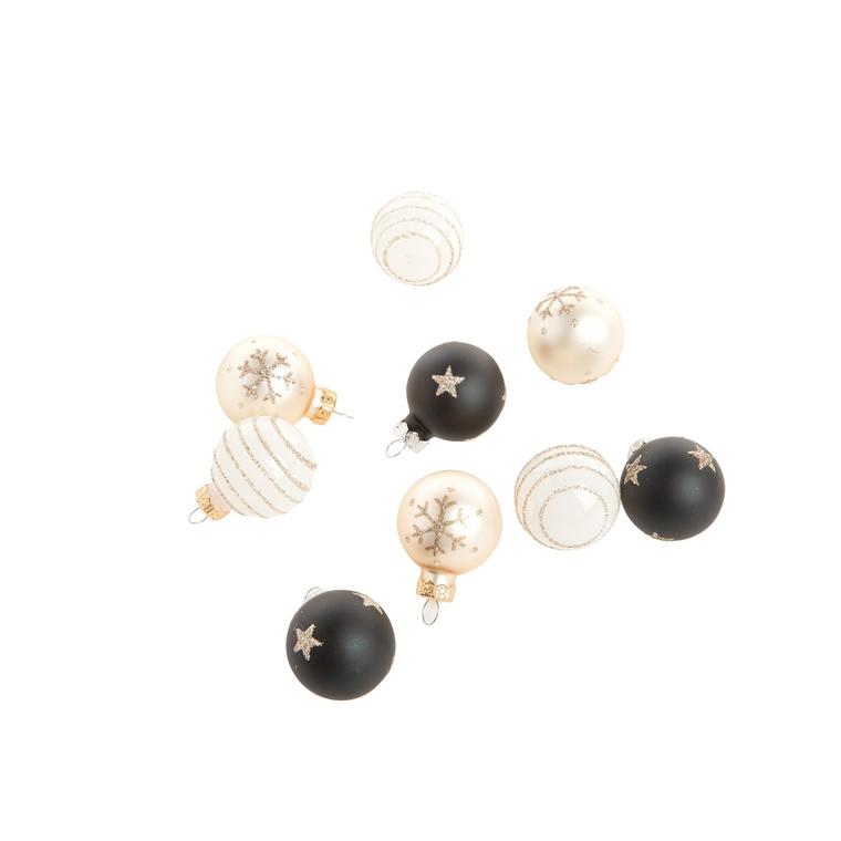 Boules de verre déco multicolores x 9 en mix Ø 3 cm 681457