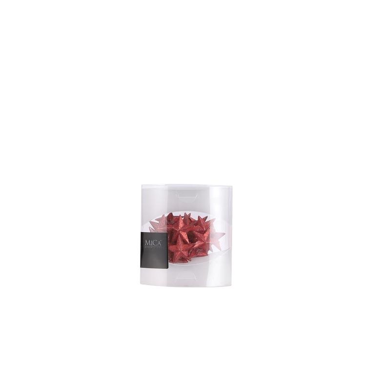 Décoration étoile de Noël rouge 12x3x12 cm 681581