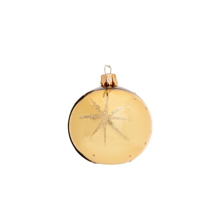 Boule de Noël dorée en verre - Ø 7 cm 681914