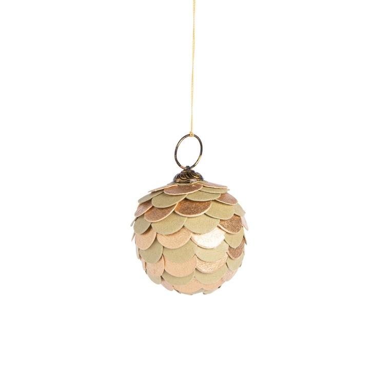Boule Pomme de Pin Ronde Papier Ø6.50 cm 682108