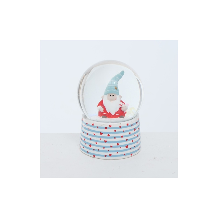 Boule à neige en verre 6,5x6,5x8,8 cm 682747