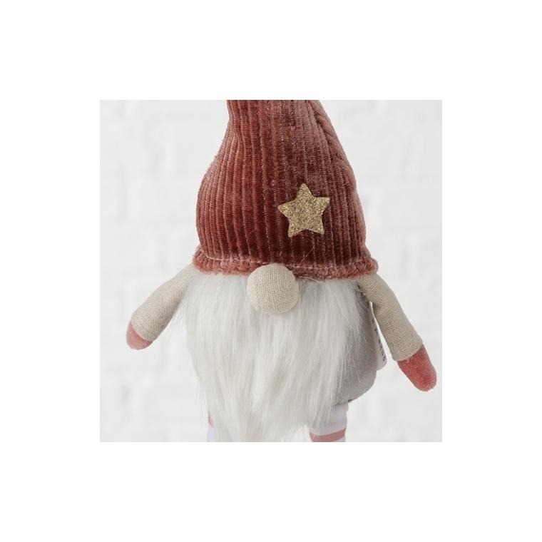 Gnome à suspendre rose 11x6x33 cm 682752