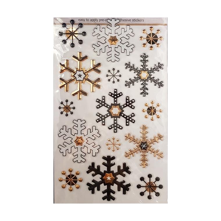 Planche d'autocollants motif flocon 683590