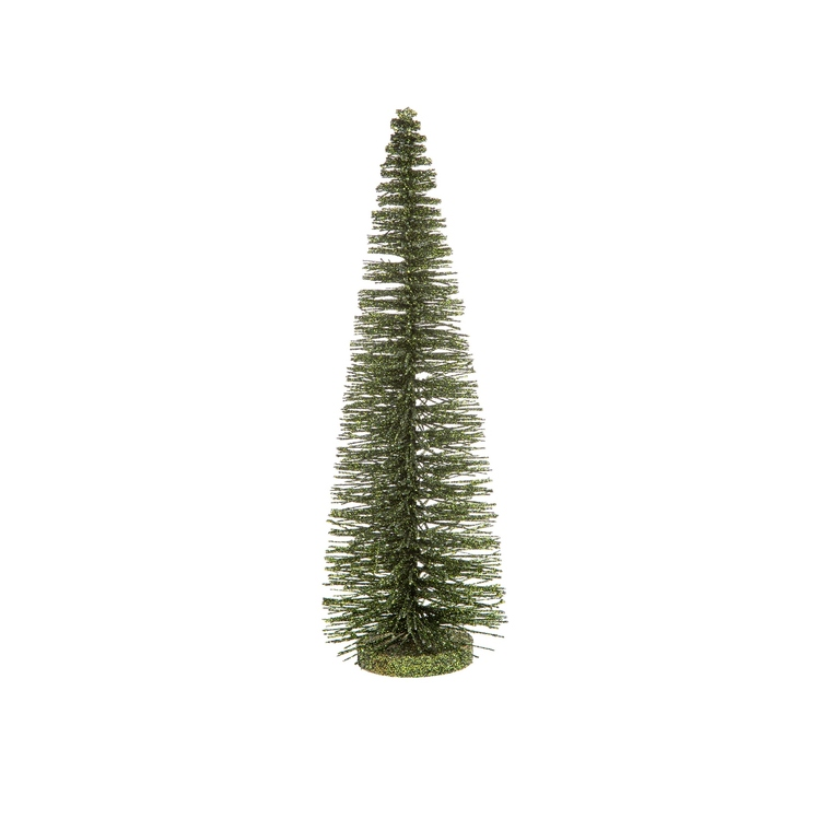 Sapin décoratif vert pailleté - H 35 cm 683643