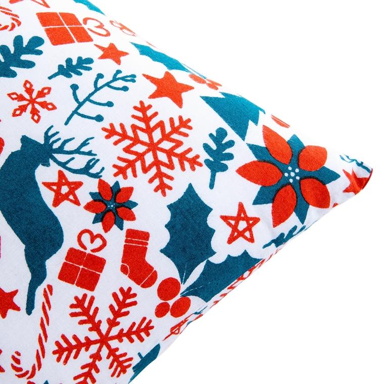 Coussin essentiel de Noel tradition multicolore en coton 40 x 40 cm 683869