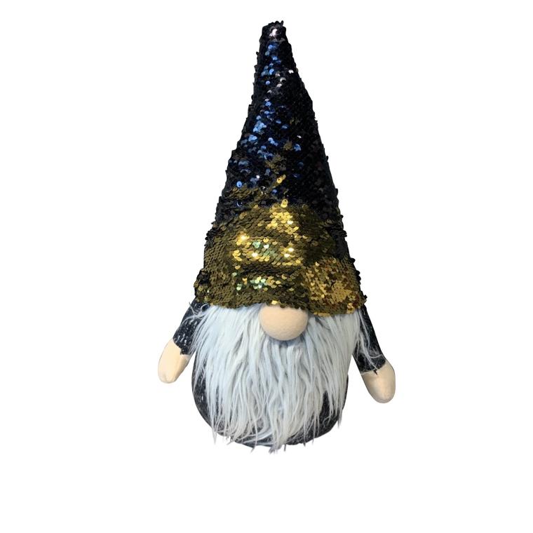 Père-Noël à gros nez noir et doré 684050