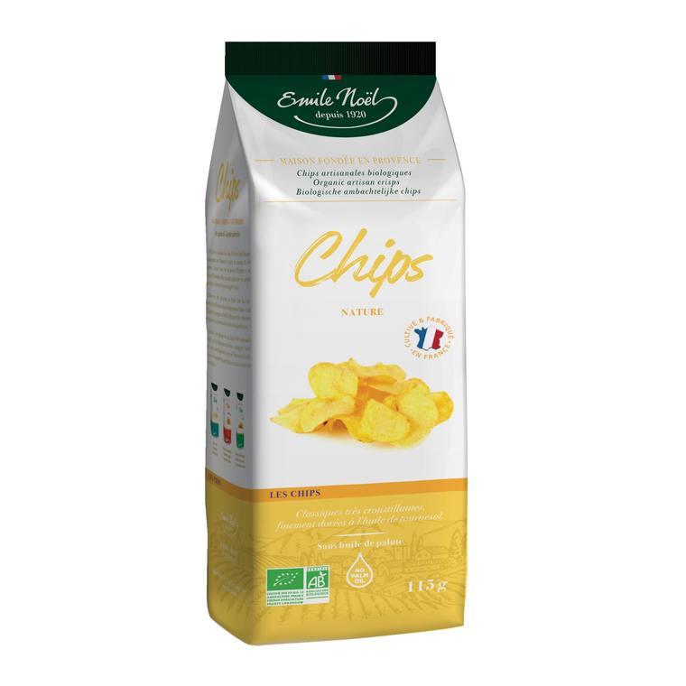 Chips nature bio en sachet de 115 g 684319