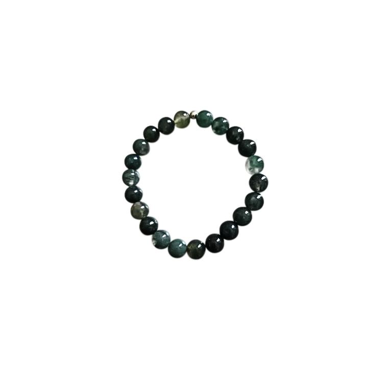 Bracelet agate mousse 6mm 685045