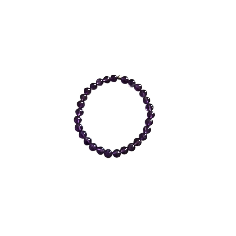 Bracelet améthyste 6mm 685051