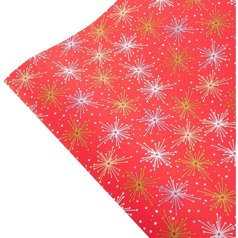 Rouleau de papier cadeau motifs étoiles 70 cm x 2 m 685145