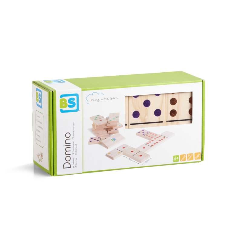 Jeu de dominos en bois coloré grand format 686140