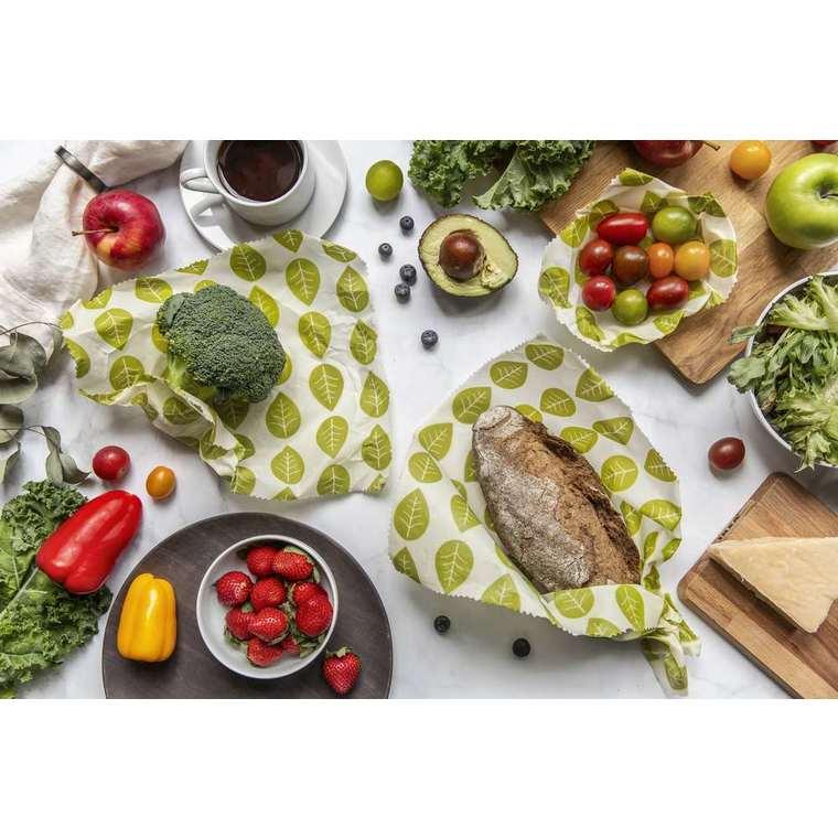 Ensemble de 5 feuilles d'emballage alimentaire réutilisables à motifs 694352