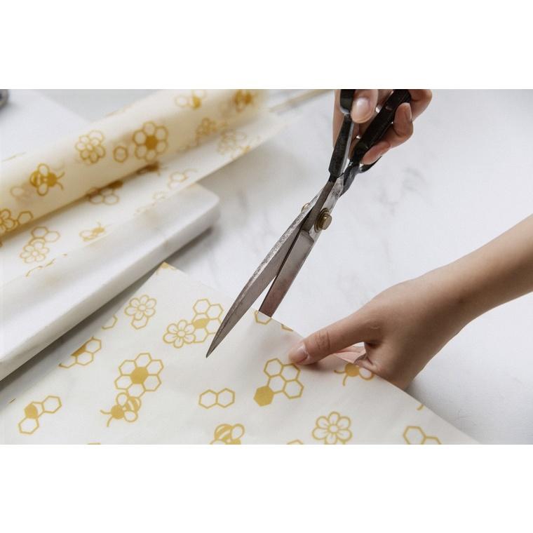 Rouleau d'emballage alimentaire réutilisable décor abeilles 30,5x90 cm 694357