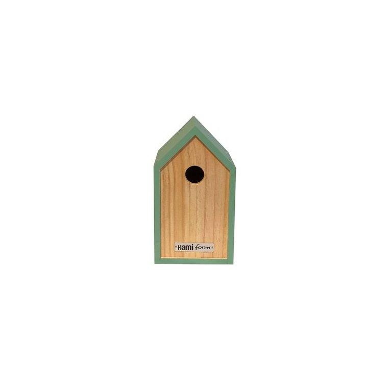 Nichoir moonk vert en bois 23 x 17 x H 20 cm 695041