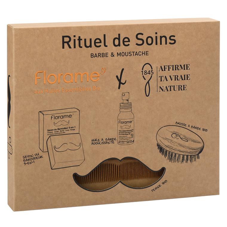 """Coffret pour barbe """"Rituel de soins"""" Florame x 1845 695093"""
