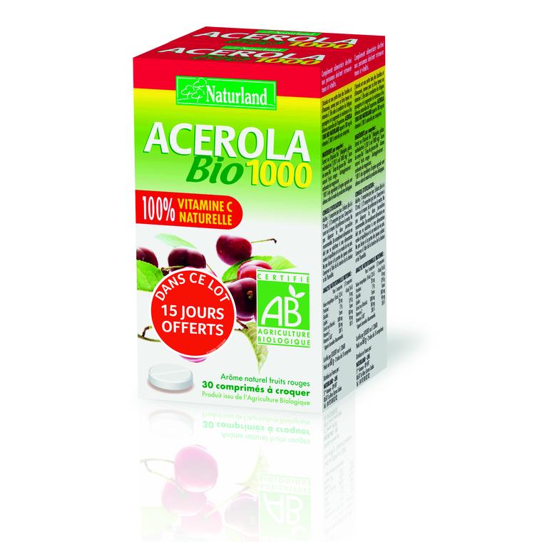 Acerola bio 2X60 comprimés 695215