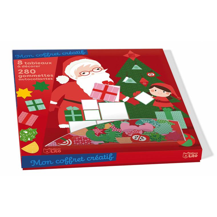 Mon coffret créatif en gommettes joyeux Noël éditions Lito 695498