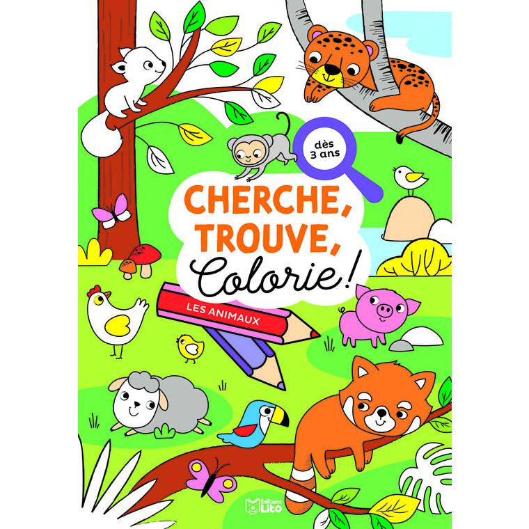 Cherche, trouve et colorie – Les animaux 695509