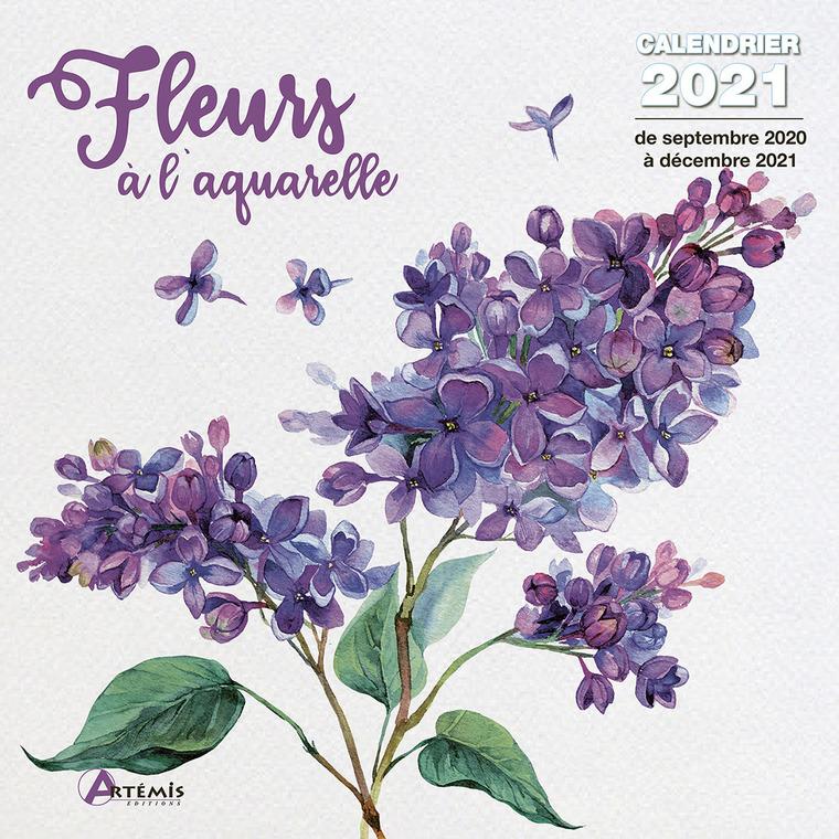 Calendrier fleurs à l'aquarelle 2021 éditions Artemis 696479