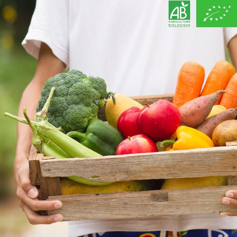 Panier botanic® composé de 5 variétés de fruits ou légumes bio de saison - Prix à la pièce, environ 2kg 696822