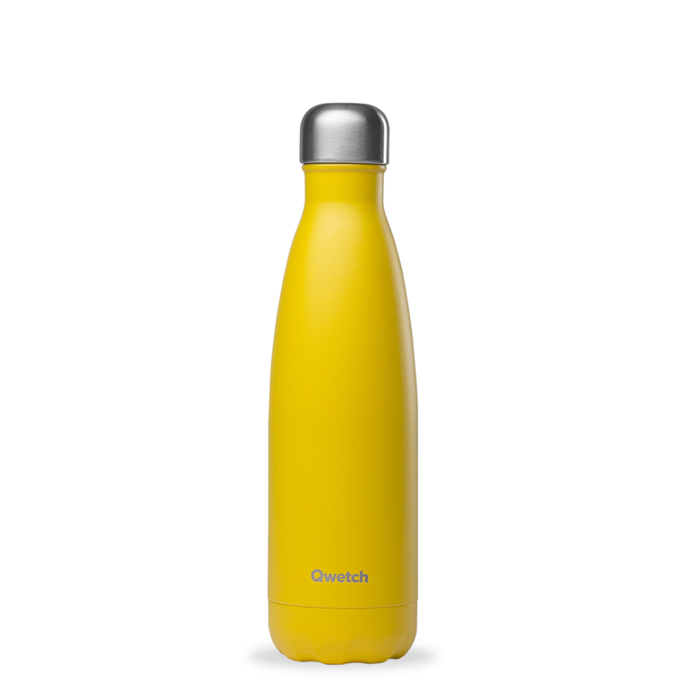 Bouteille isotherme Qwetch en inox Pop jaune 500 ml 697145