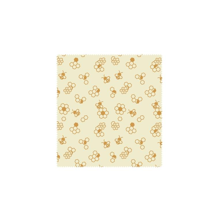 Feuille d'emballage alimentaire réutilisable décor abeilles 25x28 cm 697156
