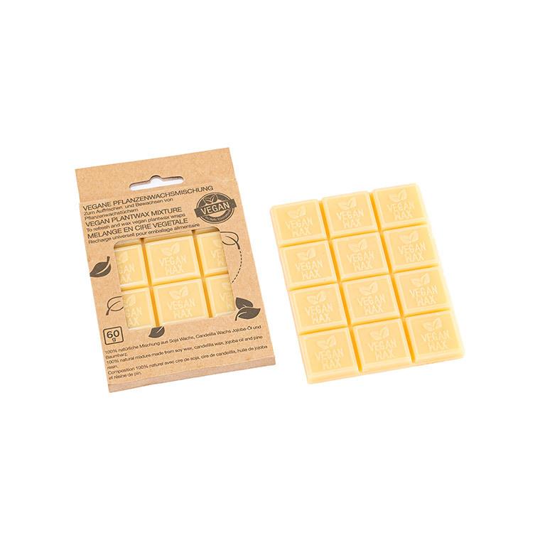 Cubes de cire Vegan x 12 pour emballage alimentaire 8,5x11,5 cm 697170