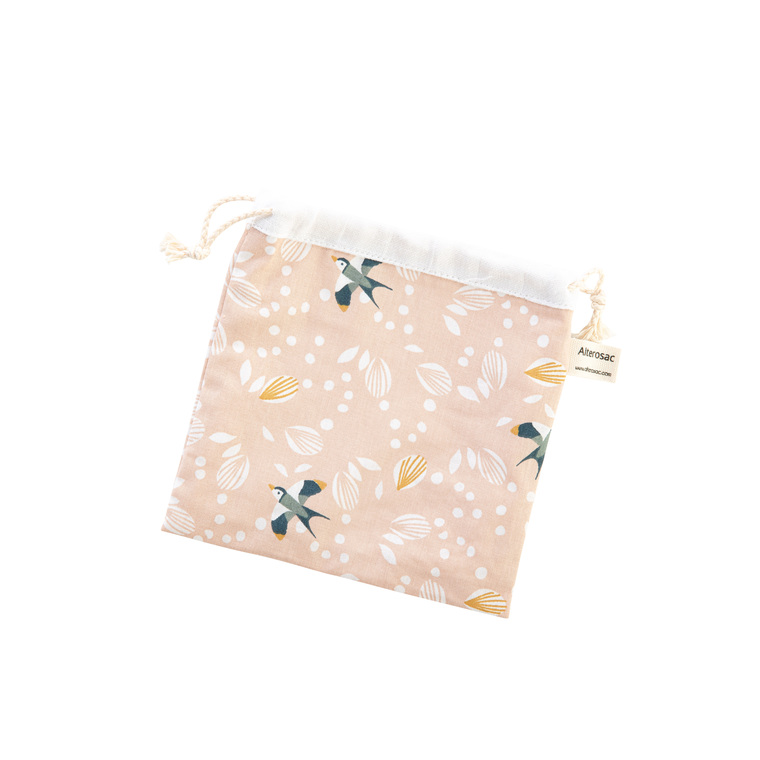 Pochette multi-usages en coton doublée d'un tissu absorbant 16 x 17 cm 697293