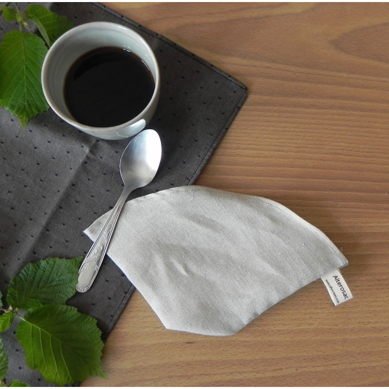 Filtre à café en lin biologique réutilisable 20x11 cm 697297