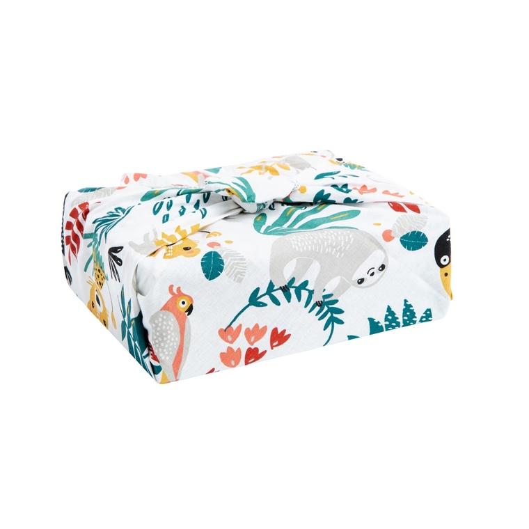 Emballage cadeau zéro déchet Furoshiki en tissu réutilisable 75 x 75 cm 697305