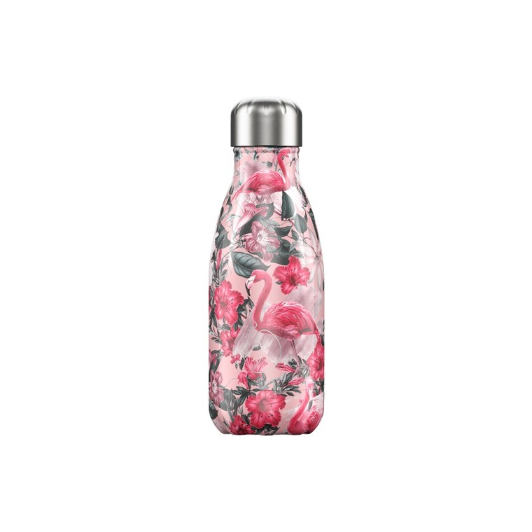 Bouteille isotherme tropical flamingo rose 260 ml 697335