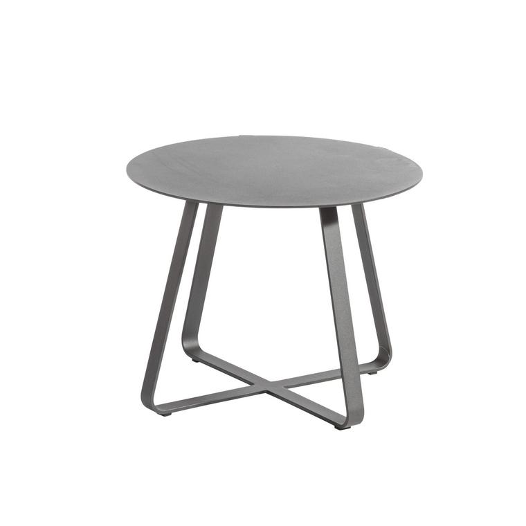 Table basse Taro en aluminium noire Ø 60 x 46 cm 697543