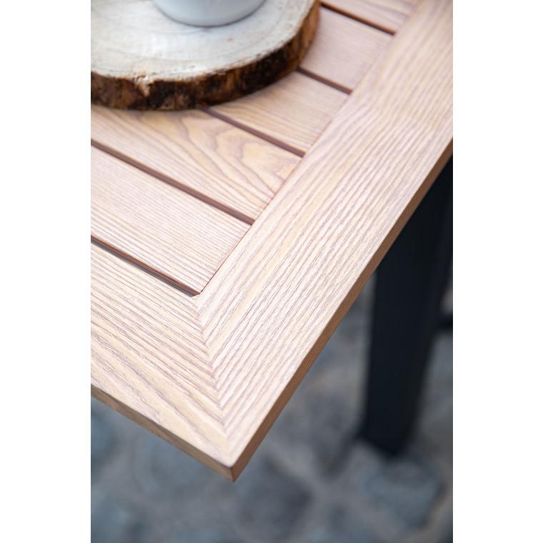 Table alu look bois 160/240 x 100 x 75 cm 697555