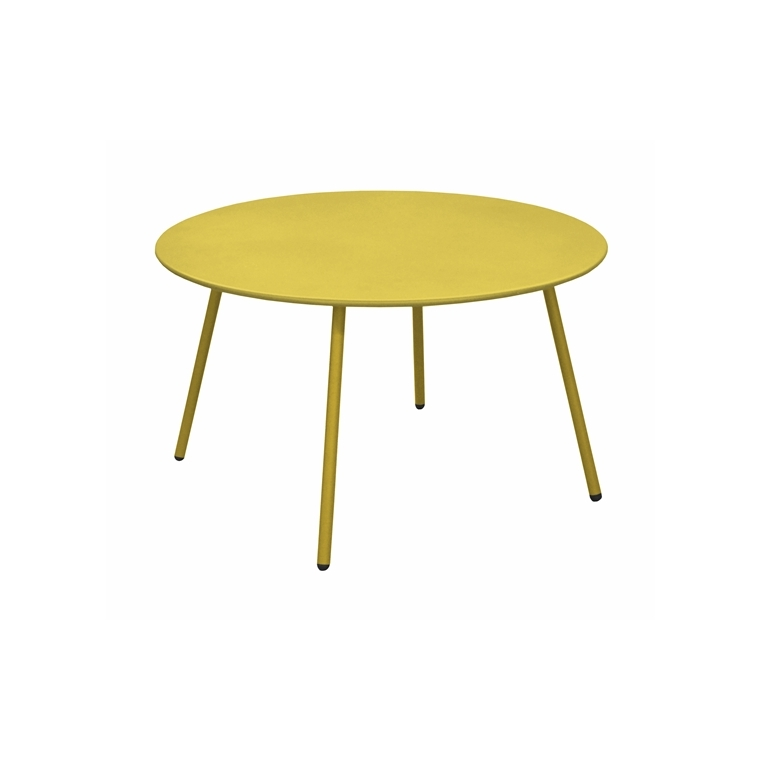 Table basse Cardo coloris moutarde Ø 70 x 40 cm 697559