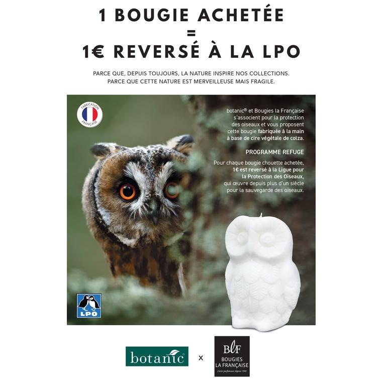 Bougie Chouette botanic® x Bougies la Française en faveur de la LPO 698262