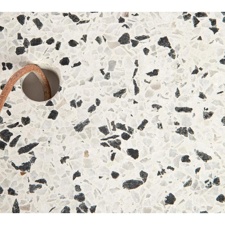 Planche à découper Terrazzo blanche et noire 33x15 cm 699104