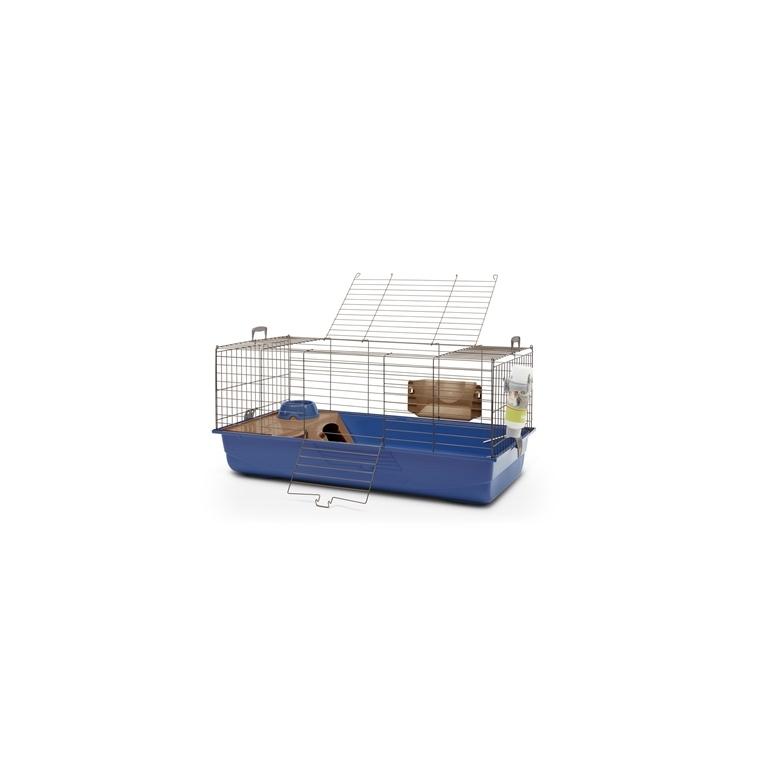 Cage bleue pour lapin et cochon d'inde 100cm 699121
