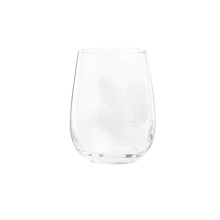 Coffret de 3 gobelets Gaia en verre motif feuillage 47,5 cl 699524